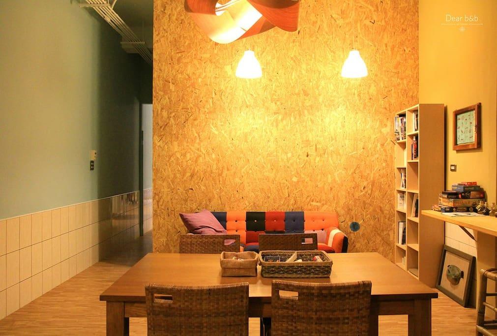 共同創造對話與回憶的大餐桌與舒適沙發