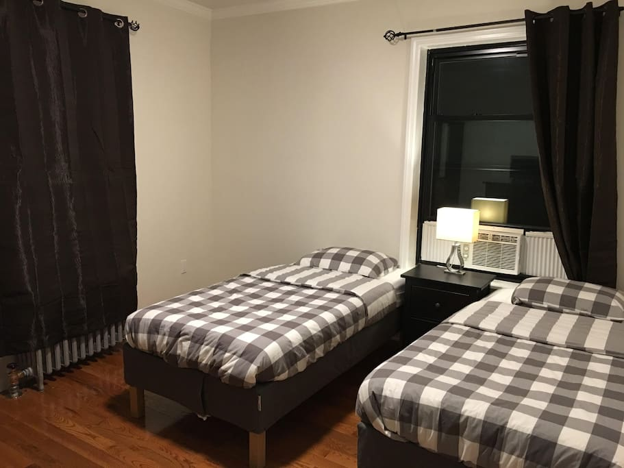 Choices: 2 Separate Twin Beds and may add 2 more separate fold out beds to a max of 4 individual beds!
