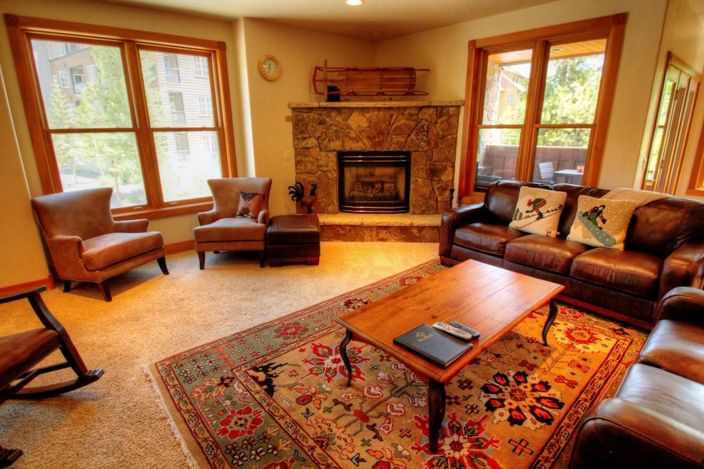 Living Room - Relax after a long day on the slopes in this huge River Run condo!