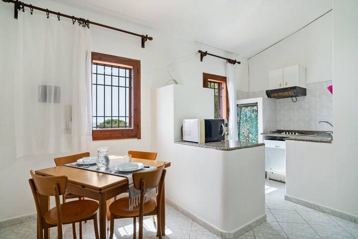 New listing! Sunny apartment w/ lovely garden terrace - walk to Costa Rei Beach!