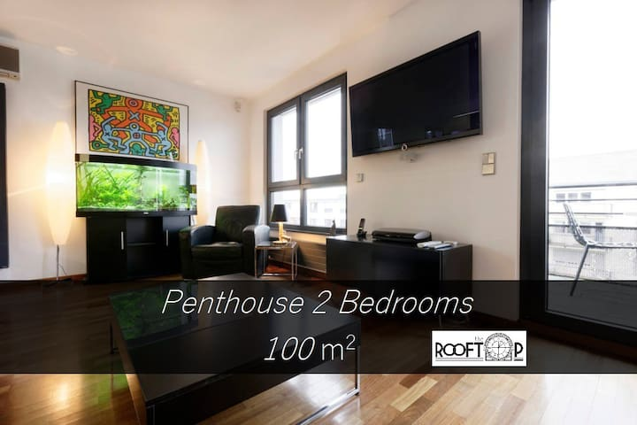 2 Bedrooms Penthouse with terraces in Lux City