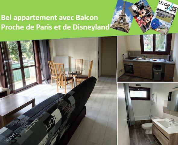 Beautiful Apartment - Near to Paris and Disneyland
