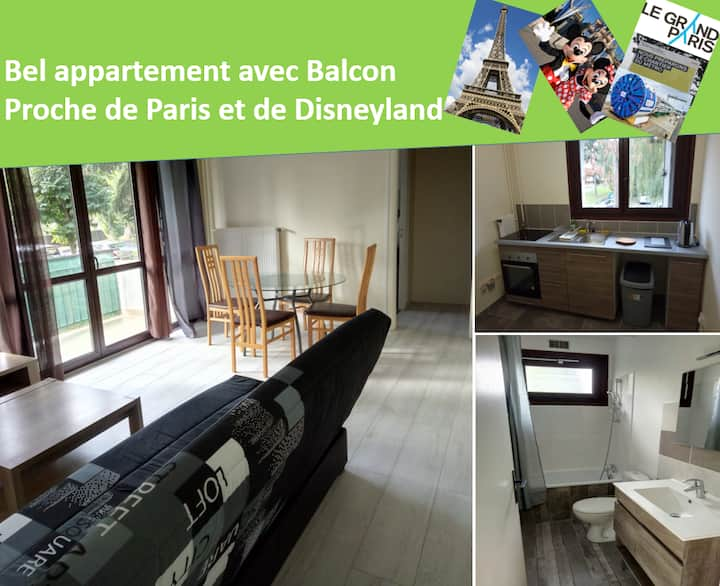 Beautiful Apartment - Near to Paris and Disneyland