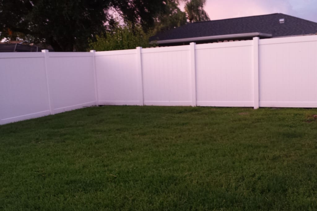 Fenced Private Backyard