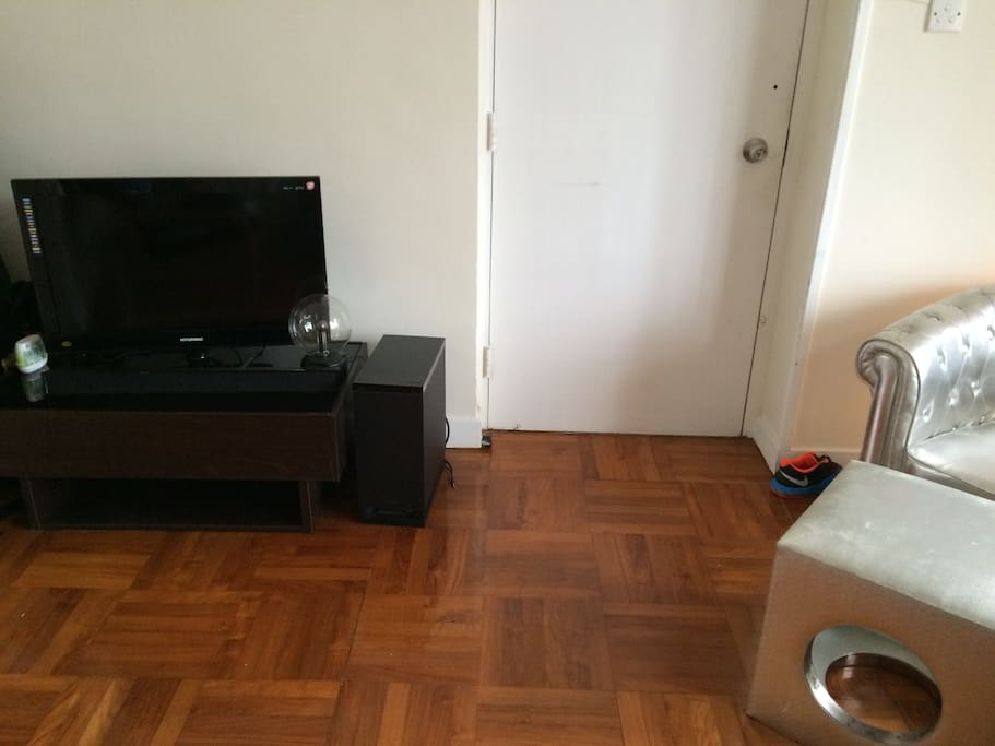 LCD TV with HDMI Cable and Surround Sound