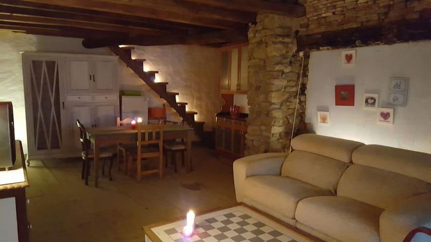 Casa de piedra restaurada - Viesca - บ้าน