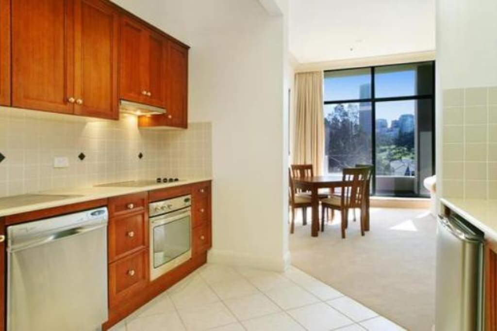 Oversized kitchen with dishwasher, oven & microwave