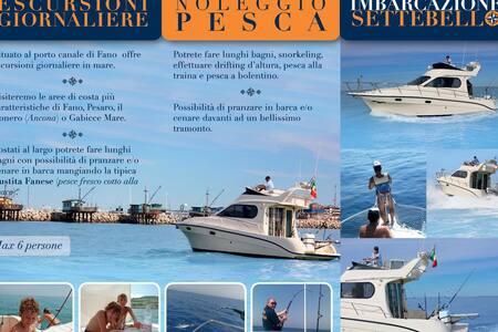 divertimento pesca relax  imbarcazione settebello - Fano