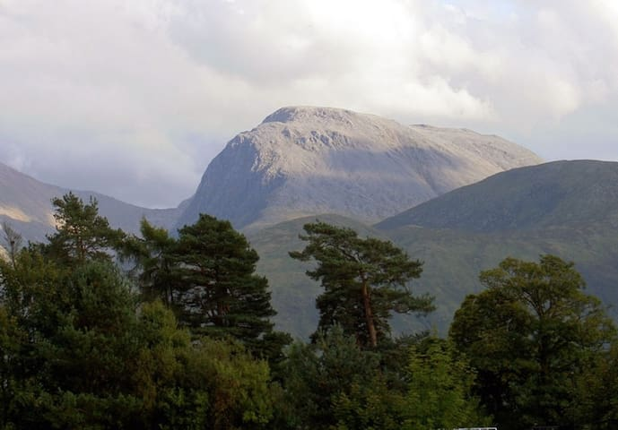 Ben Nevis. Pic taken from a short 3 mile distance from the apartment.