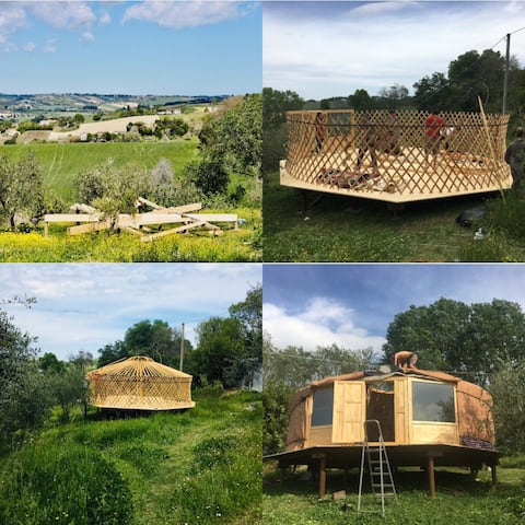 Yurta panoramica nelle colline Senigalliesi