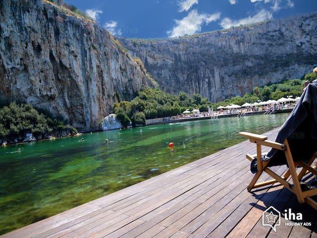 Vouliagmeni lake is 700m away