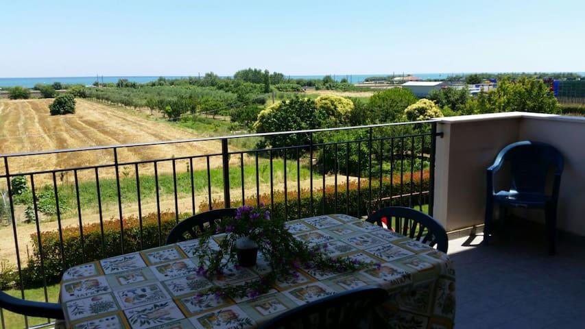 Appartamento vista mare con giardino e parcogiochi - Provincia di Teramo - Appartement