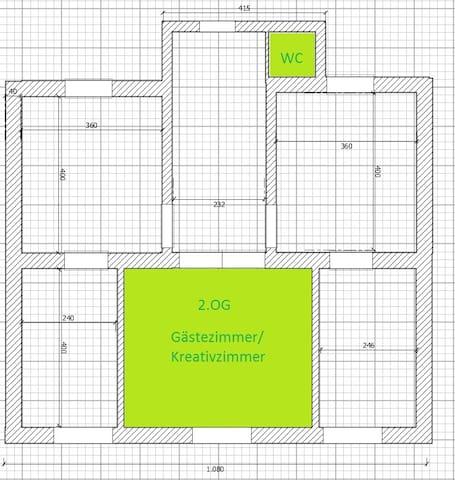 Zimmer mit Privat-WC im Einfamilienhaus