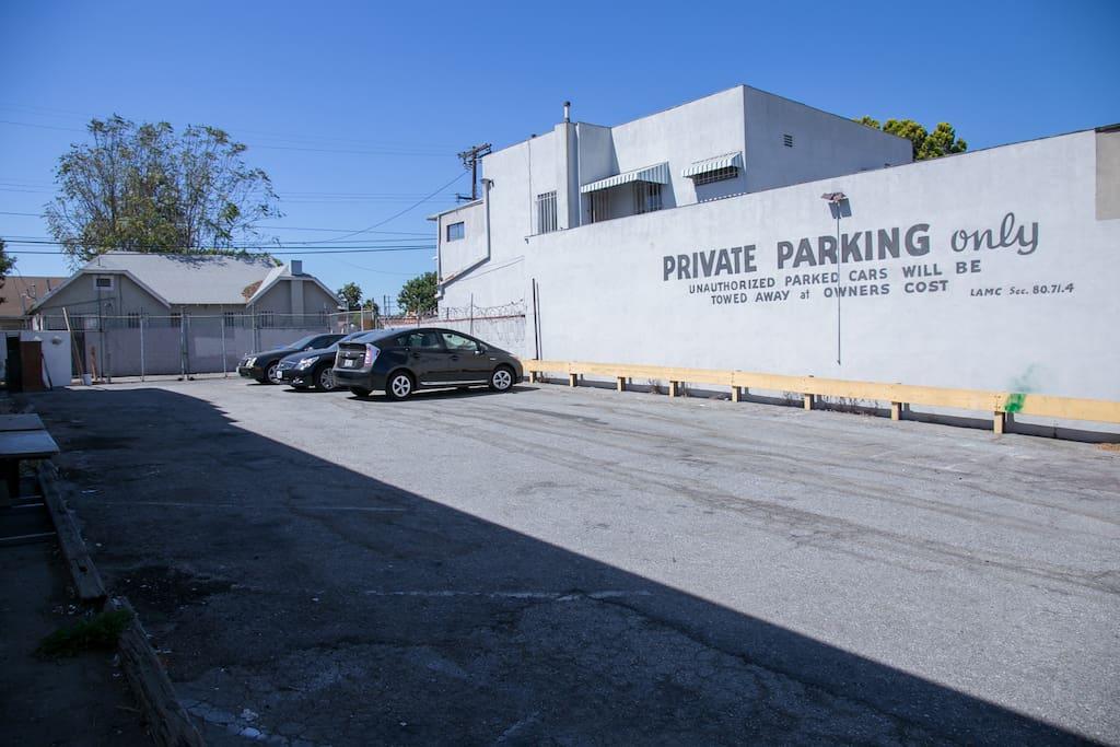 Plenty of parking spaces!