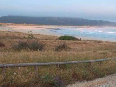 200m playa, vistas mar, barbacoa, garaje, 2 d, 2ba