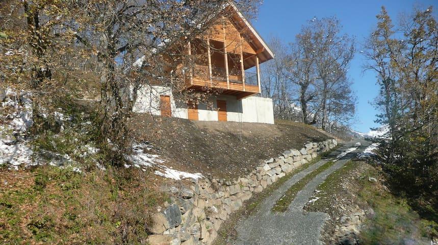 Chalet 8 personnes plein sud vue Grandes Rousses - Allemont - Bungalo