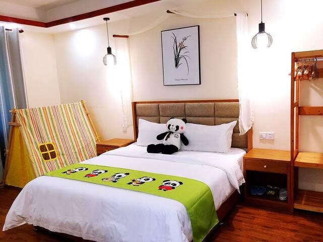 欢乐熊猫--三卧度假别苑(古宇湖附近,古宇庙旁,3卧3厅3卫1厨房)