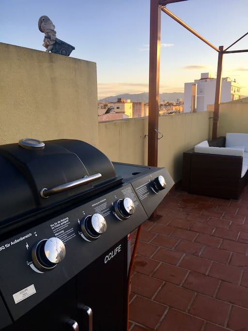 We can have a delicious barbecue together on our sunny terrace