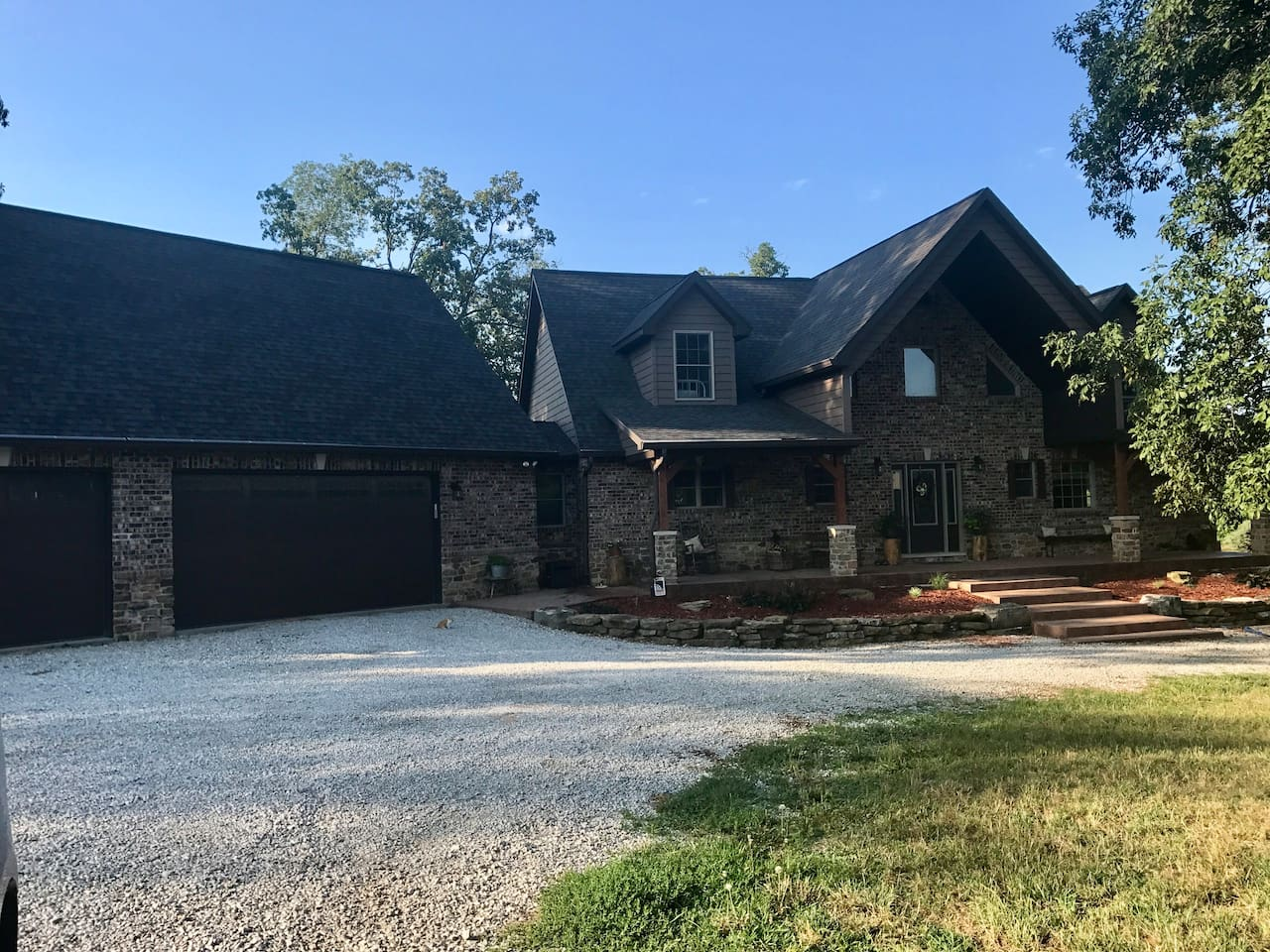 Country home on 10 acres with 5 acre lake.