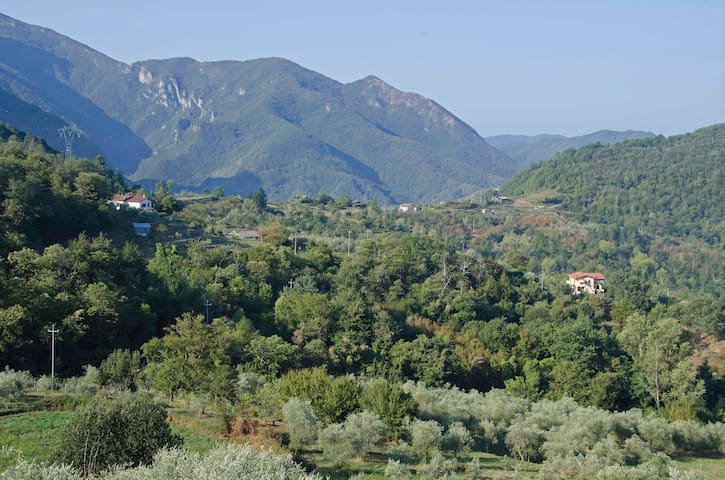 Tuscan House in Lunigiana. Terrace, stunning views - Casola In Lunigiana - Hus