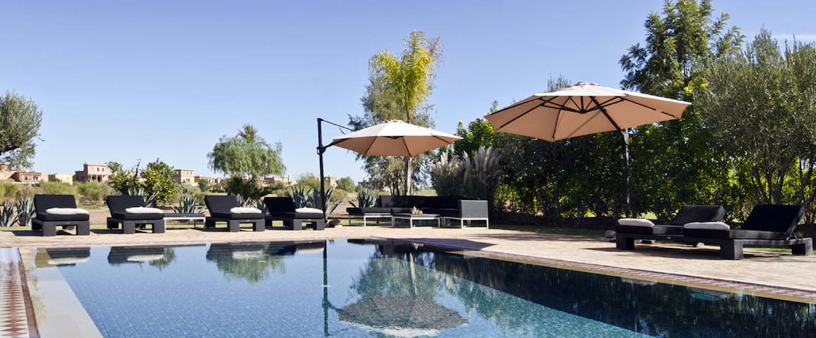 Superb villa by the Samanah Golf, private pool - Marrakesh - Flat