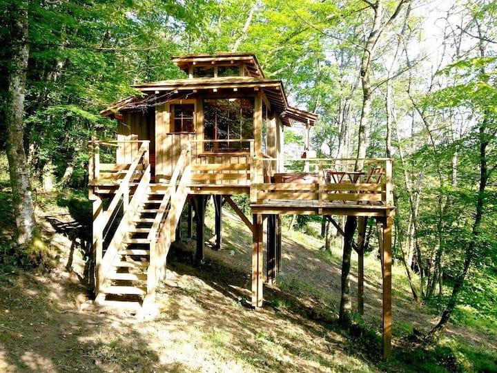 Cabane familiale zen et nature