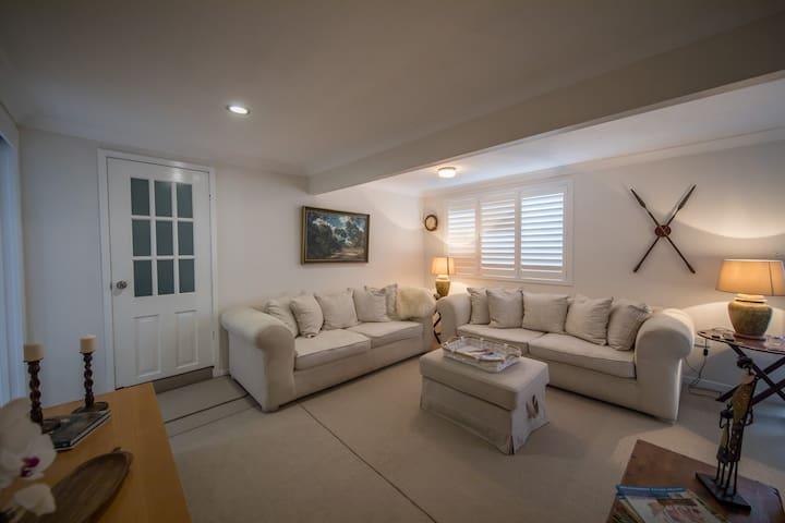 Living Area showing access via main house