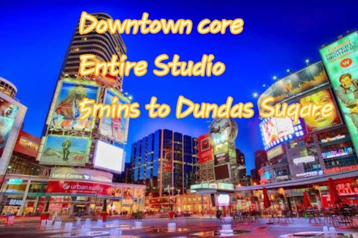 "3""7mins to Downtown core""  Near Dundas station"