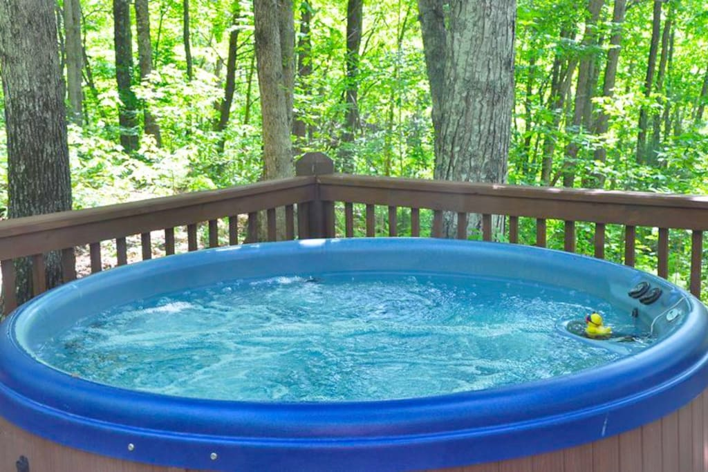 The Sparkling Hot Tub Under the Trees