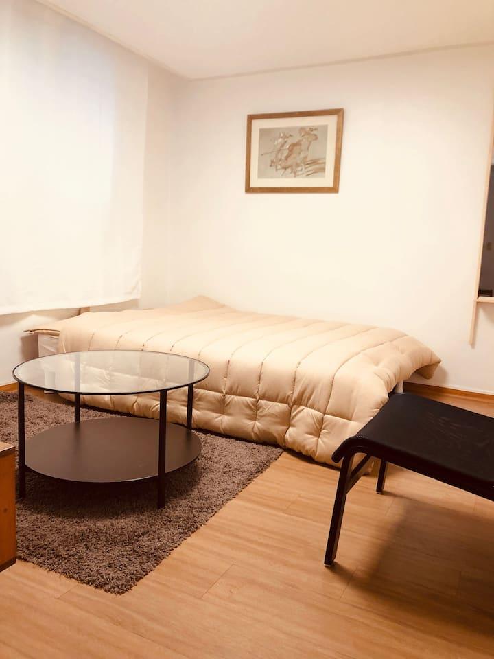가로수길 인접 방 두개 숙소