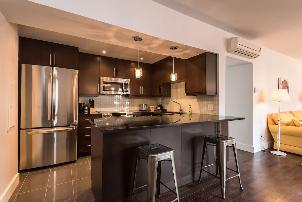 Fully-equipped, modern kitchen