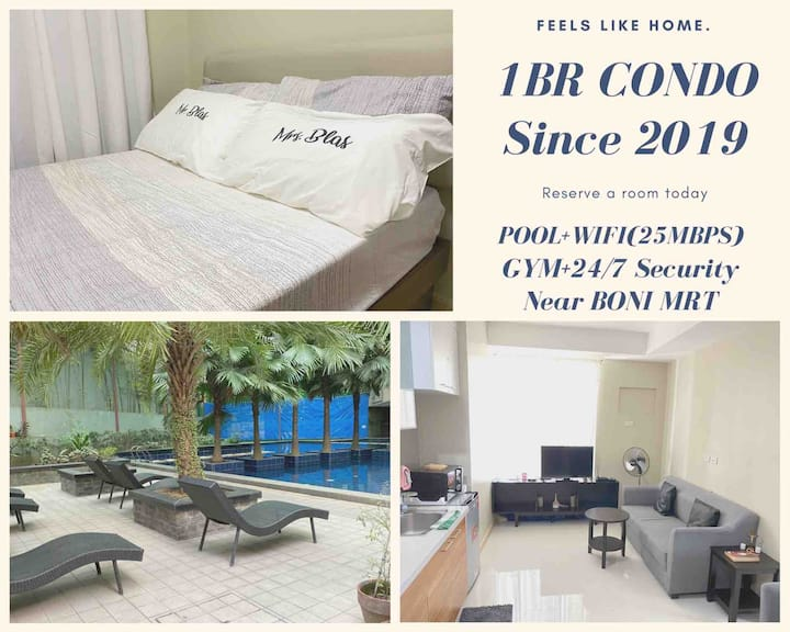 Cosy1BRCondo+PoolGymWIFI+24/7Security+BoniMRT
