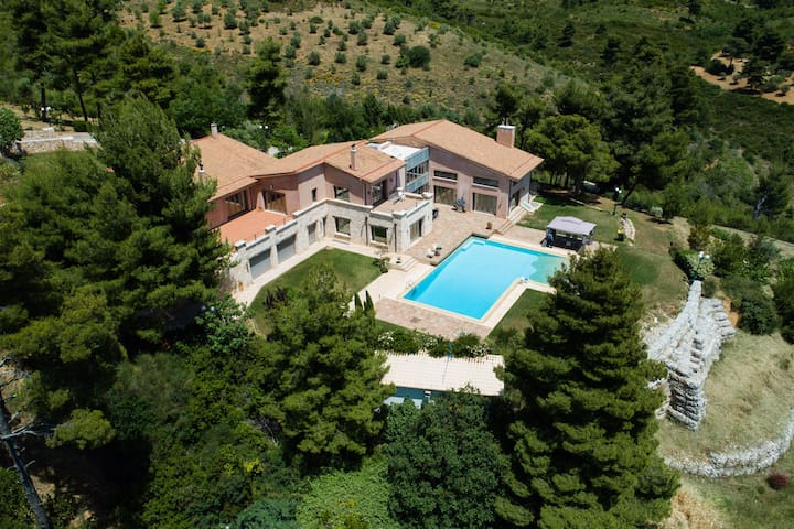 Spacious Villa near Athens: Luxury,Nature, Privacy