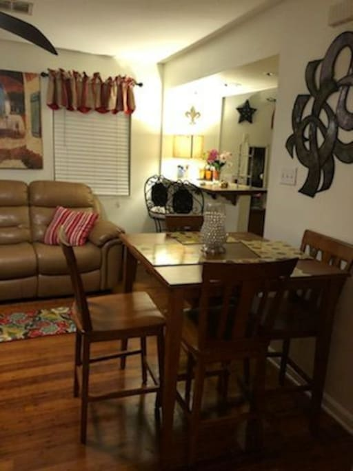 Living Area and Dining Area, Cable TV with Apple TV and Internet