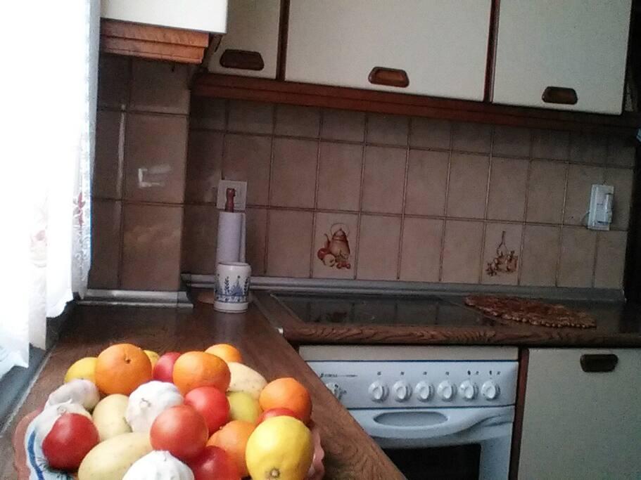 Amplia cocina.
