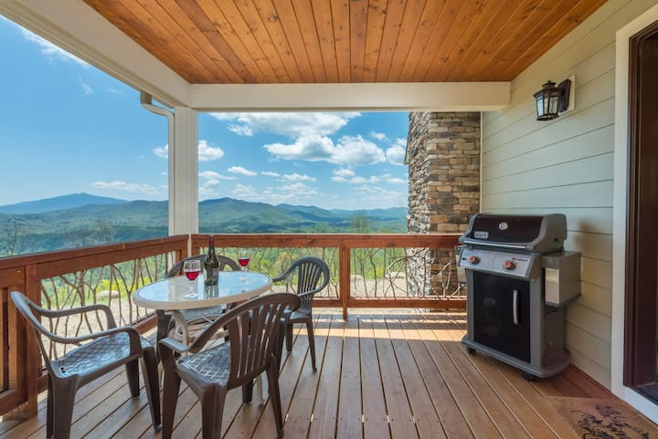 Breathtaking MTN Views! private! fire-pit.