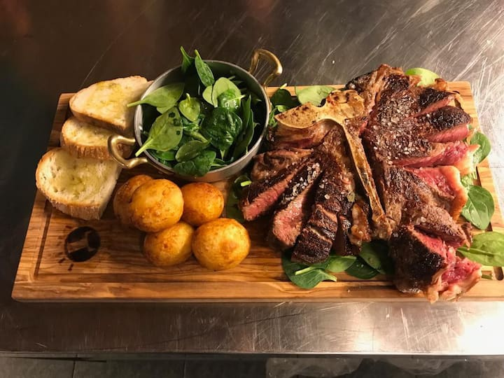 Your steak ready to eat!