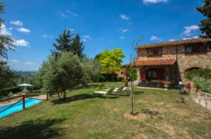 Un fienile nel Chianti con giardino privato