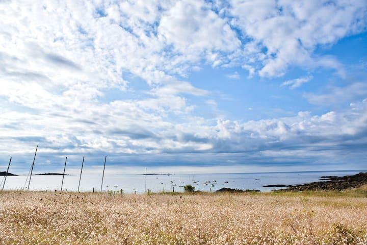 ApprtementT2, belle vue mer, face à la plage