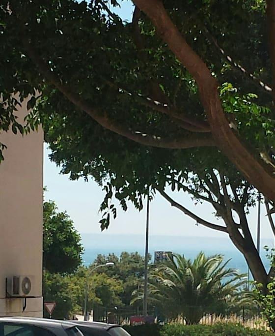 Vista mar do apartamento.