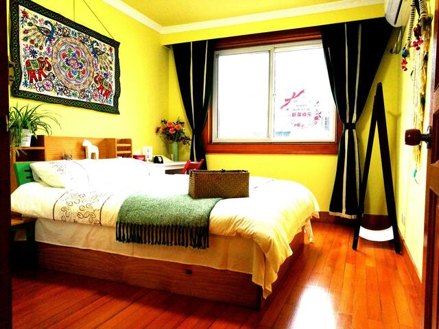 Maggie's Cozy Room13号线大渡河路站-近环球港/华师大 - Shanghai - Leilighet