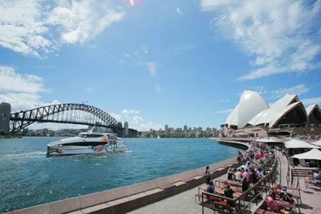 Circular Quay is only a 25min trip by train where you can see the famous Harbour Bridge, Opera House, Botanical Gardens and the Rocks with Darling Harbour and the city all within reach.