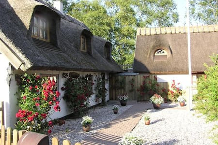 Idyllic thatched house near station - Casa