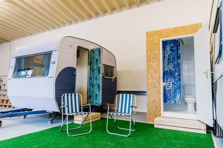 Towed Town Camping. Cleopatra Caravan.