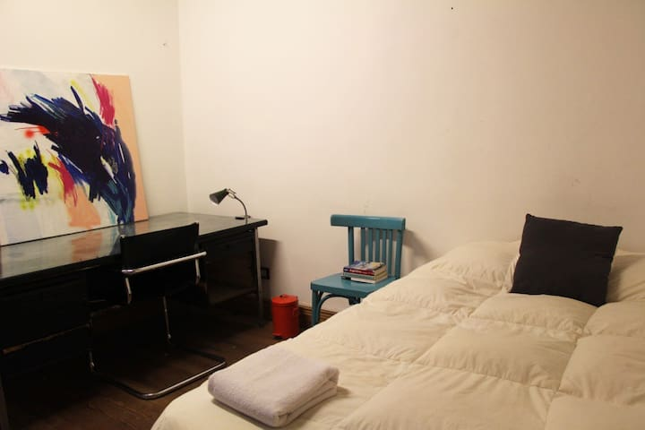 Double bed in nice centric flat