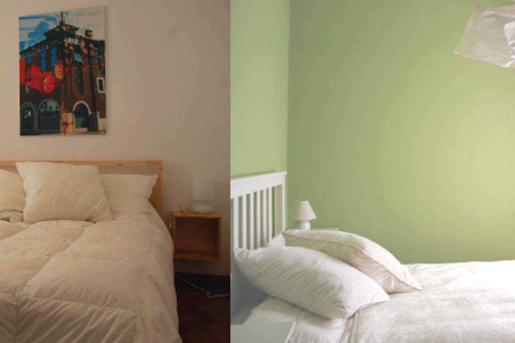 Due silenziose camere graziosamente ristrutturate, luminose e accoglienti, sono l'ideale per chi cerca un posto dove riposare in tranquillità.   Two quiet bedrooms lovely renovated, luminous and cozy, they are ideal for whom is looking for a place where nicely rest.