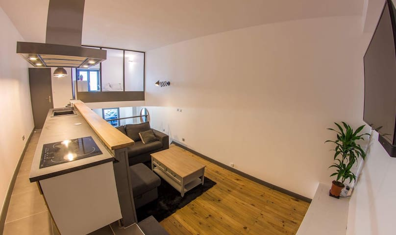 Loft 40 m2 atypiques