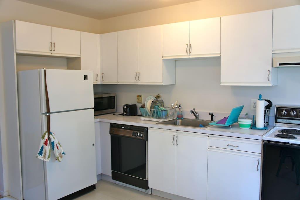 Large, bright kitchen