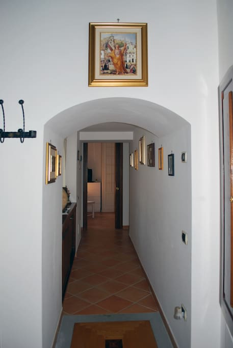 hallway to the private rooms