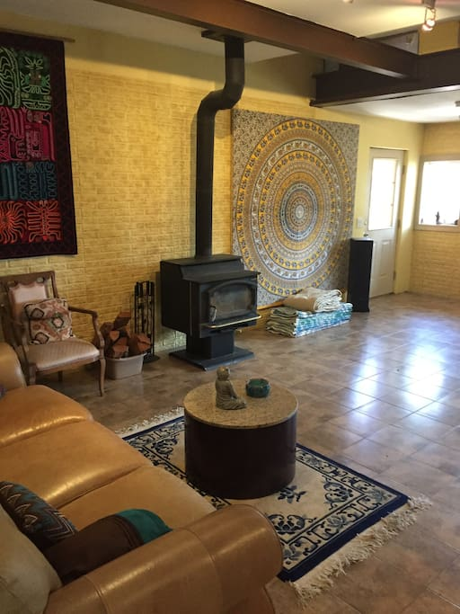 Family Room / Wood Stove